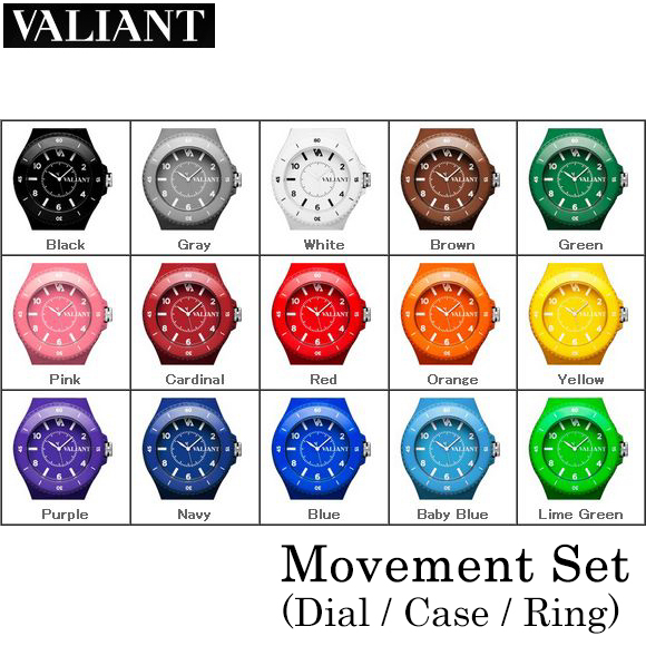 【VALIANT】ヴァリアント WATCH ウォッチ Movement Set (Dial+Case+Ring) 52mm