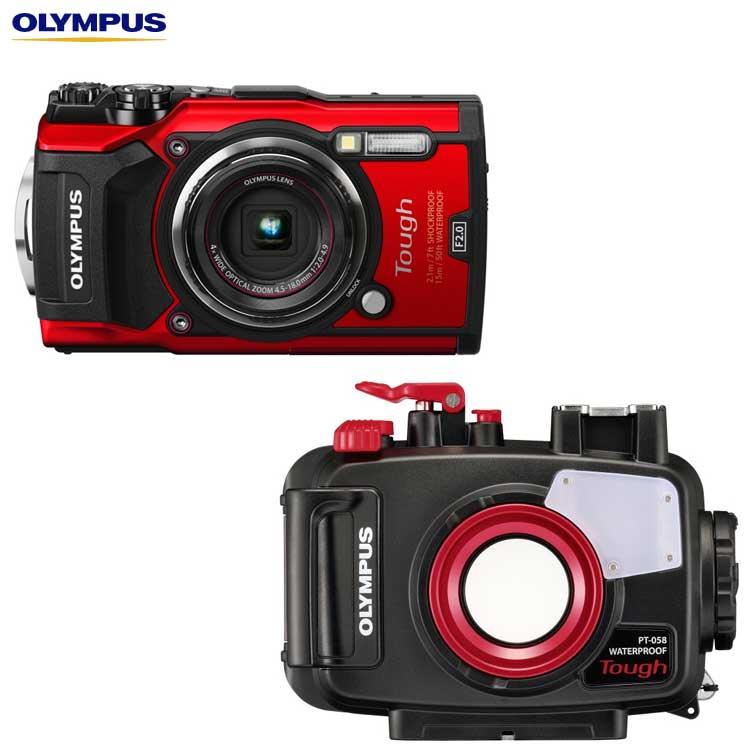 【OLYMPUS】オリンパス TG-5+PT-058 水中カメラセット
