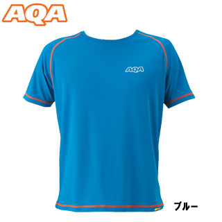 [AQA] KW-4453 power dry rush T-shirt men blue [inventory clearance / returned goods exchange impossibility]