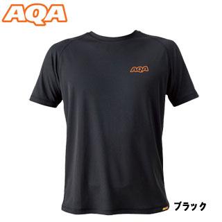 【AQA】KW-4453 파워 드라이 러쉬 T셔츠 맨즈 블랙【재고 일소/반품 교환 불가】