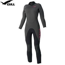 【GULL】GW-6551 A 5 mm잠수복 womens[매트 블랙]【재고 일소/반품 교환 불가】