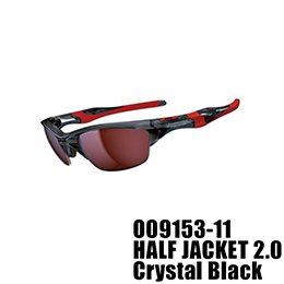 【OAKLEY(オークリー)】OO9153-11 HALF JACKET 2.0 [Crystal Black]