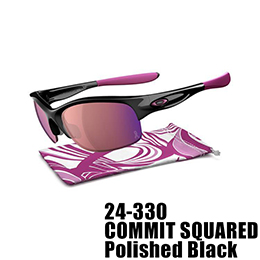 【OAKLEY(オークリー)】24-330 COMMIT SQUARED BREAST CANCER AWARENESS EDITION [Polished Black]