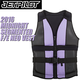 【JETPILOT】ジェットパイロット 2016年モデル JA5205 MIDNIGHT SEGMENTED F/E NEO VEST [PURPLE]