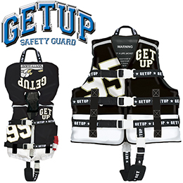【GETUP】 GCL-36161 LIFE VEST ライフベスト [BlackxWhite]