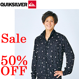 【QUIKSILVER】QLY161068 MO ALLOVER ST ジップアップ ラッシュガード 【在庫一掃返品交換不可】【まとめてお得!】