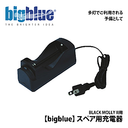 【bigblue】BLACK MOLLY II スペア用充電器