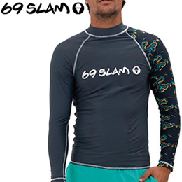 【69SLAM】RASH VEST LONG SLEEVES [DRAGON]