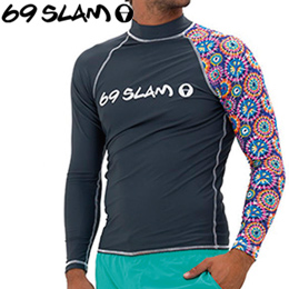 【69SLAM】RASH VEST LONG SLEEVES [PEACE]