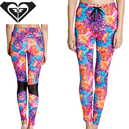 【ROXY】M / Mika Ninagawa Beach Fitness LEGGINGS [PMNF] レディース 水陸両用UVカットレギンス
