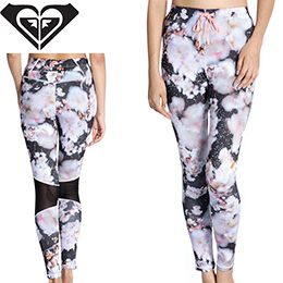【ROXY】M / Mika Ninagawa Beach Fitness LEGGINGS [KVD2] レディース 水陸両用UVカットレギンス
