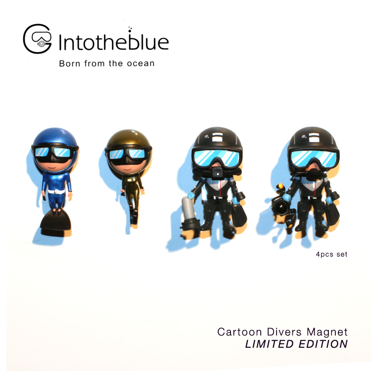 [ intotheblue ] Cartoon Divers Magnet LIMITED EDITION (4pcs set)カートゥーンダイバーズ マグネット 4つセット