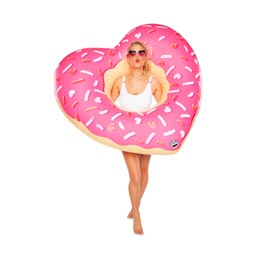 【BIGMOUTH】GIANT HEART DONUT  POOL FLOAT ハートドーナツ プールフロート BMPF-0035