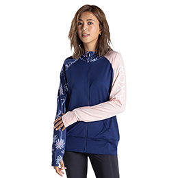 [ ROXY ] ラッシュパーカー UVカット PALM SHADOW PARKA [NVY]